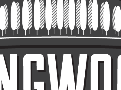 Trees And Type typography design gruntmonkey logo trees black and white