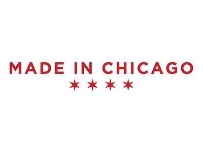 Stamp red chicago stars gotham typography stamp