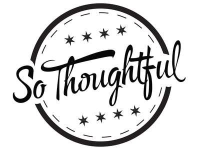 So Thoughtful swchicago black and white chicago script typography logo