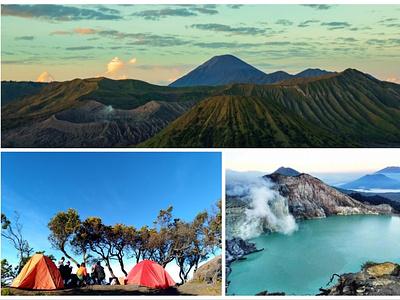 Paket Wisata Bromo Camping Kawah Ijen 3 Hari 2 Malam volcano trekking hiking transportation mountain travel
