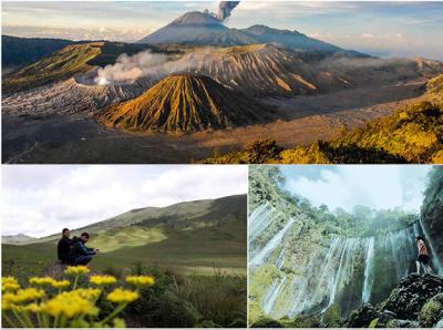 Paket Wisata Bromo  Air Terjun Tumpak Sewu 3 Hari 2 Malam indonesiatourism hiking traveling trekking mountain travel