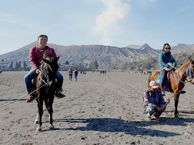 Menikamti Wisata Gunung Bromo dengan Kuda traveling indonesiatourism volcano mountain travel