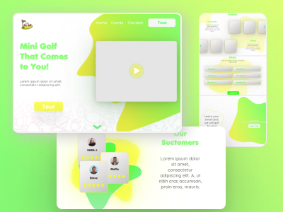 Dribbble shot   1 figma golf golf club uidesign landingpage web design