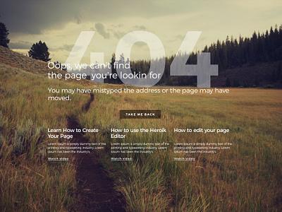404 Page free PSD homepage landing website landingpage 404 web