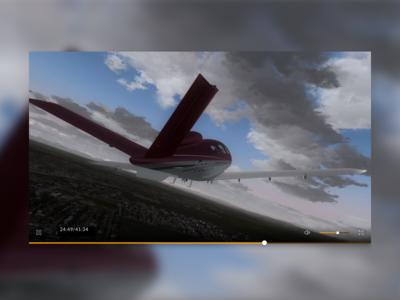 Cirrus Video Element cirrus aircrafts video player modal video modal video element flat simple yellow blue element aeroplane video