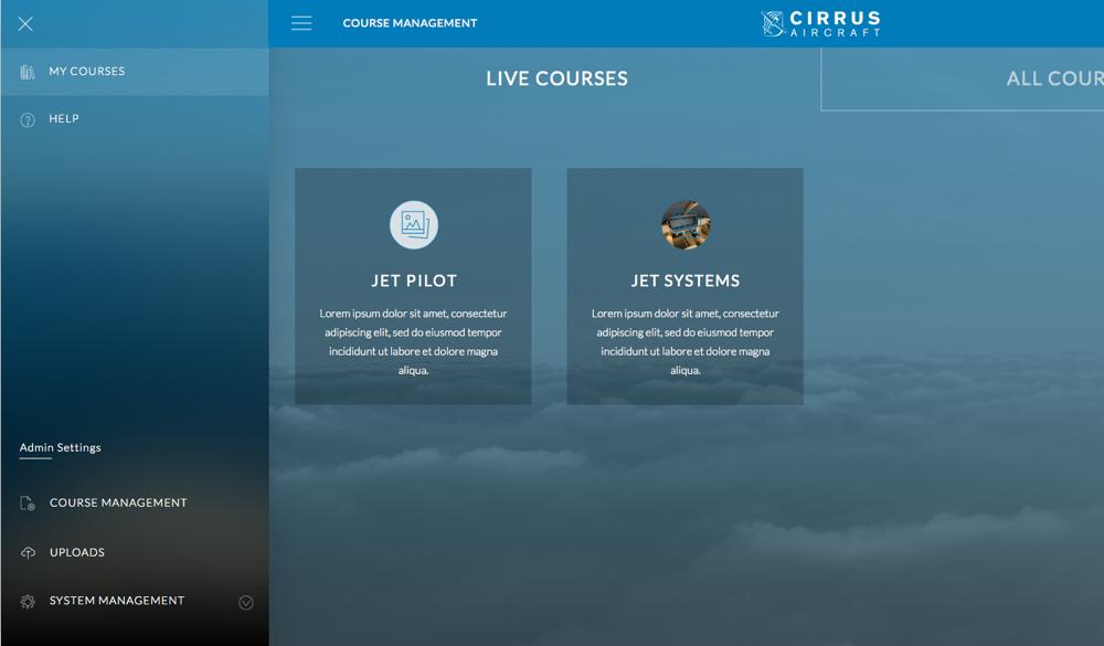 All course page menu   admin