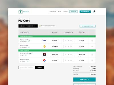 Upload Prescription - 4macy flat design medicines product green modal upload edit prescription e-commerce cart
