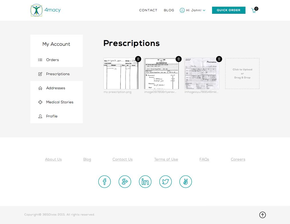 Prescriptions   4macy