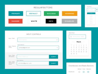 Design Ui Kit - 4macy web design user interface ui kit input minimalist flat design buttons date calendar white green