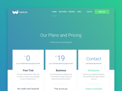 Pricing Page wao.io