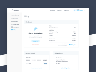 Sloppy.Io Billing paypal method address visa ux ui clean subscriptions payment plans pricing checkout