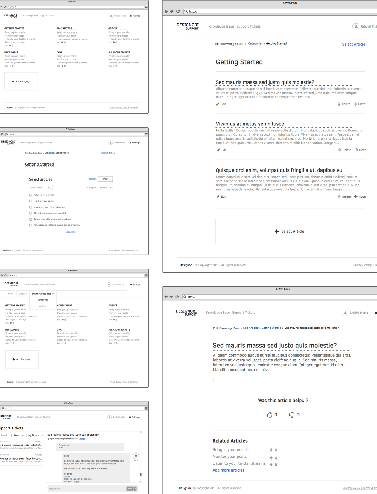 Support site wireframes 02