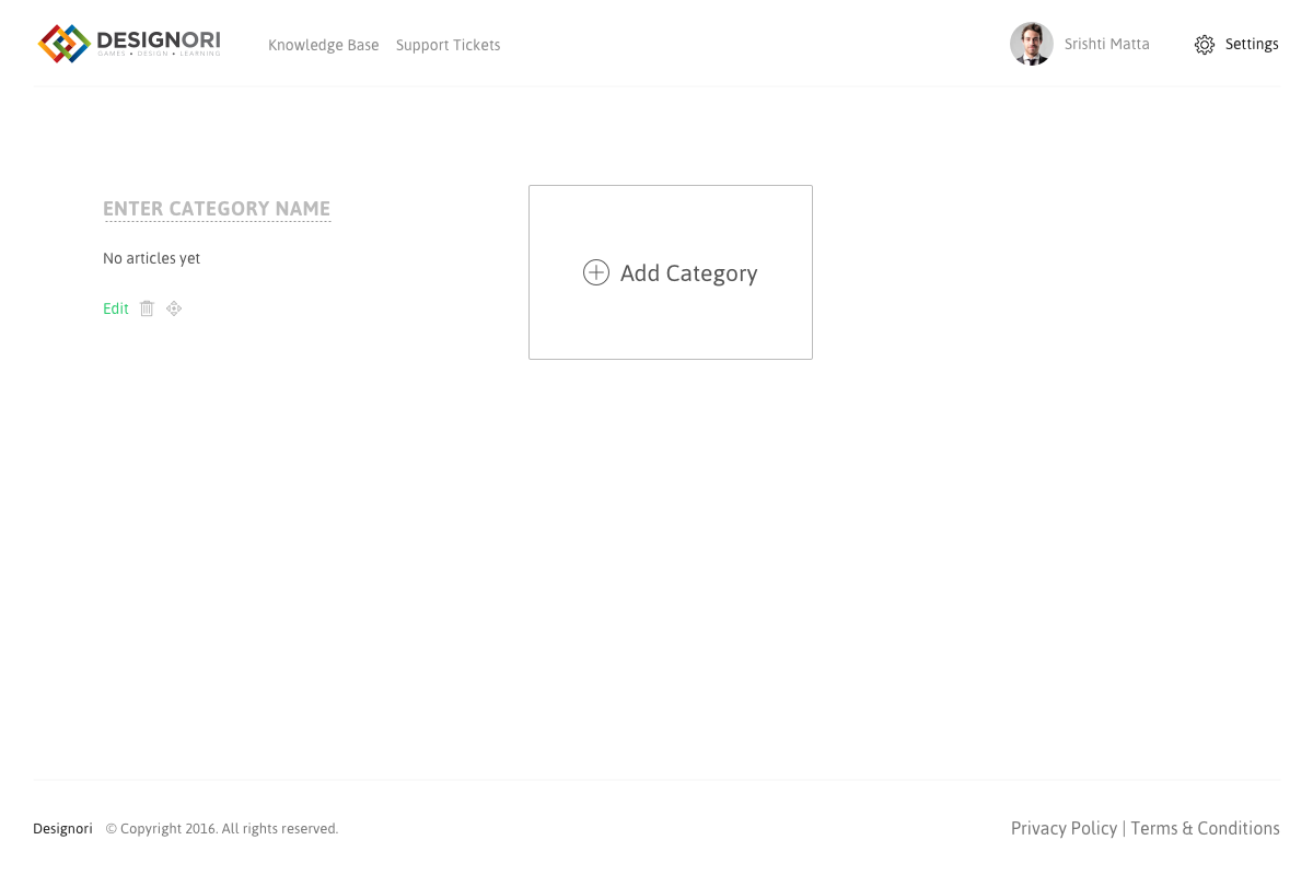 Support site knowledge base admin side 01