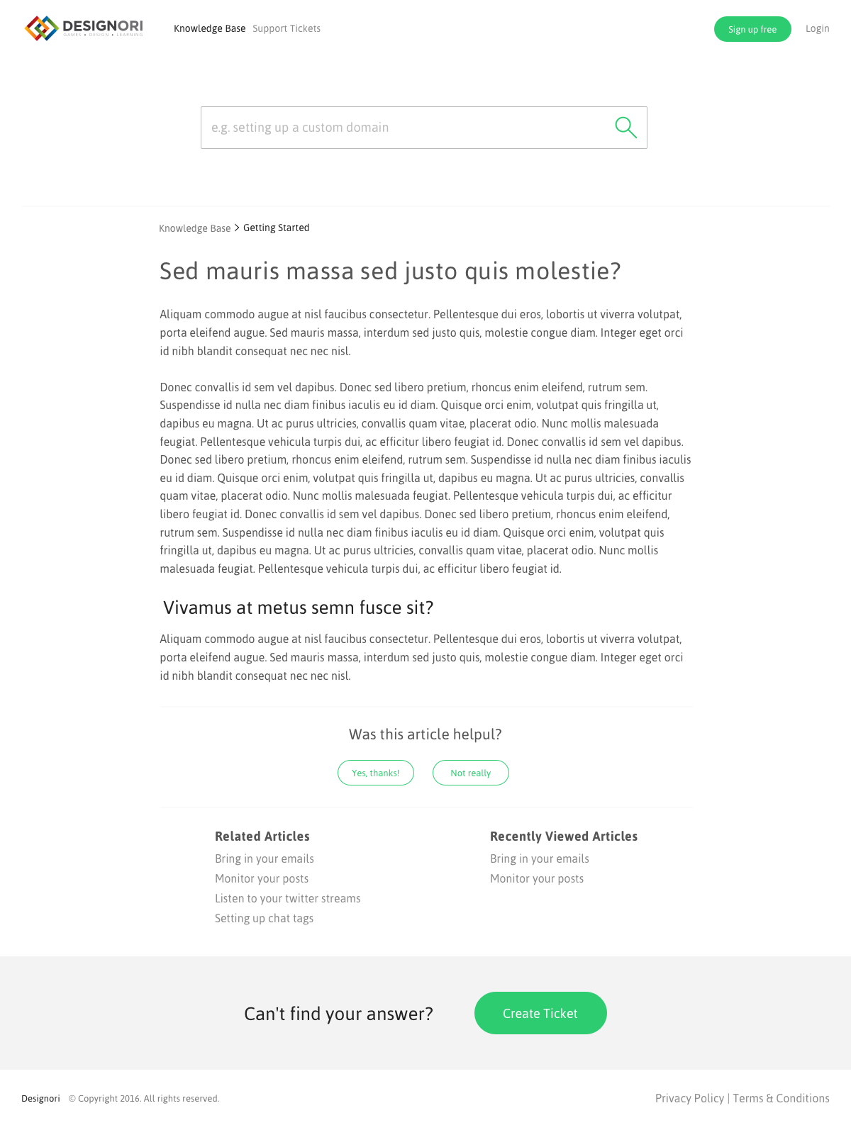 Support site knowledge base 03