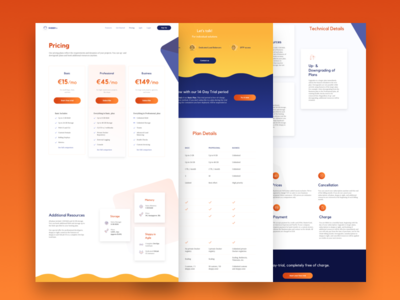 Sloppy.Io Pricing Page user interface experience vector illustrations user interface docker hosting germany blue and yellow blue containers bold pricing pricing plans pricing plan pricing page