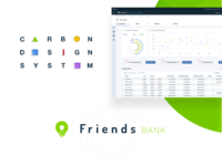 carbon design system on friends bank