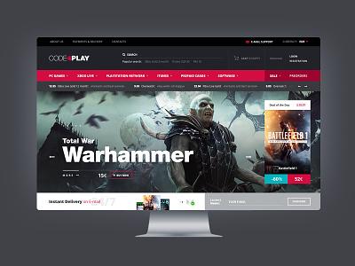 Code4Play ux ui site shop play online game desktop