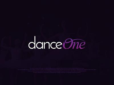 DanceOne - OTT Video Platform wordmark adobe one dance sophisticated modern typeface logotype identity illustrator vector typography design branding graphic design logo