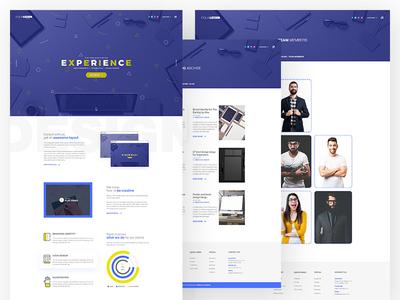 Equalizzer- Creative Agency creative agency website template digital agency modern web design agency web