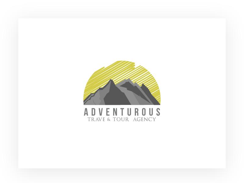 Adventurous- Concept Logo illustrator icon flat design summer mountain logo travel agency adventure trips travel