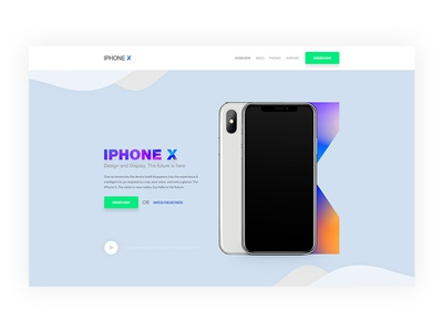 Iphone -X || Landing page concept (Wip) iphone landing page interaction ux ui website concept landing page iphone iphone x product