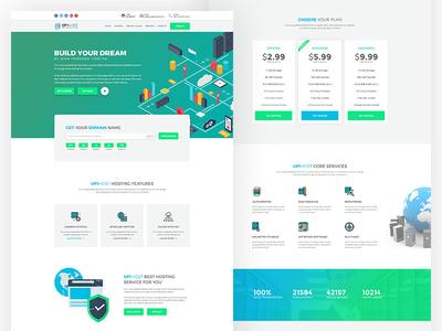 Up1host - web hosting PSD template