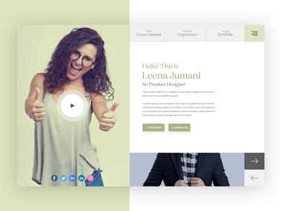 User Profile Vcard || Exploration web cv resume profile user minimal clean modern vcard portfolio personal 2018