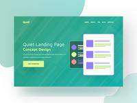 Quiet - Landing page concept
