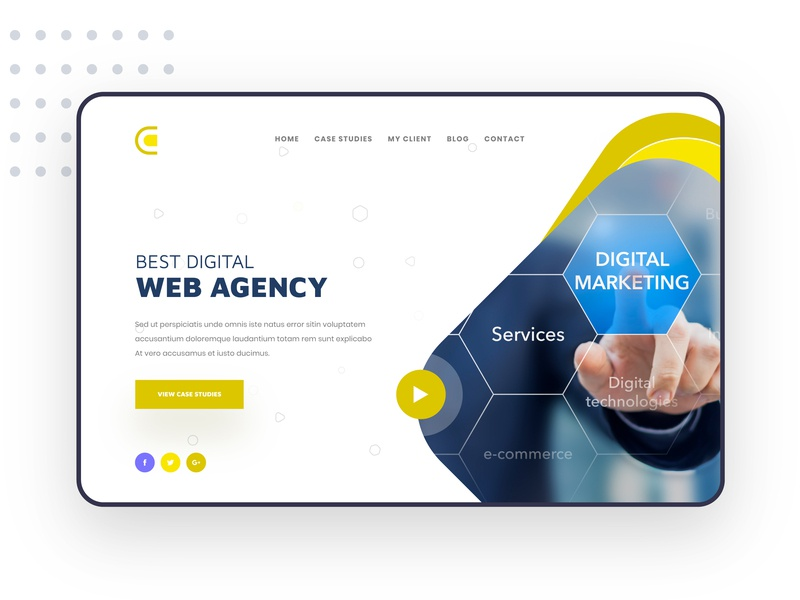 Web agency Landing Page || Exploration icon typography vector app home page design website modern agency minimal landing page ui