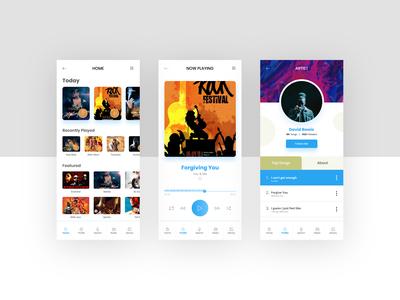Music App Concept (Figma Freebie)
