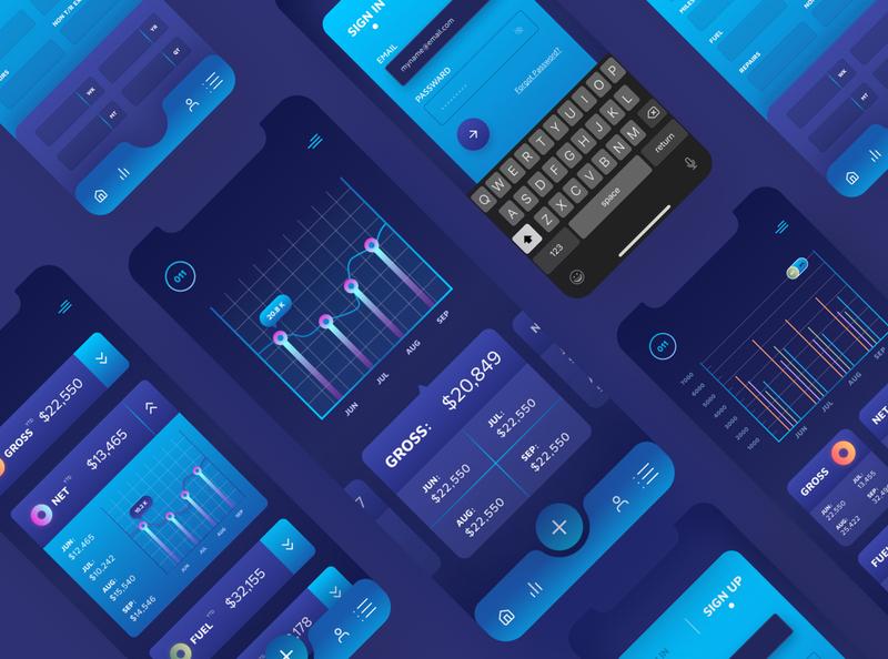 Business Analytics App figma business dark blue vector flat chart dashboard analytics app ux modern clean design minimal ui