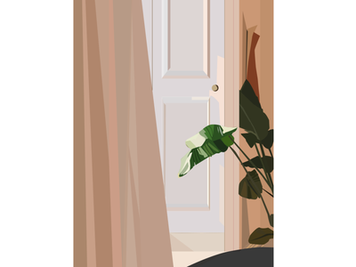 Plant Illustration (Adobe Illustrator) illustrator art adobe illustrator minimalism minimal neutral plant illustration plant illustration creative agency branding design