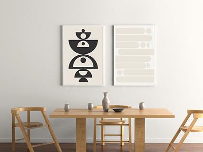 Poster Design Mockup wall art wall decor interior decor poster creative agency illustration design