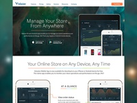 Mobile Tablet App Admin Landing Page