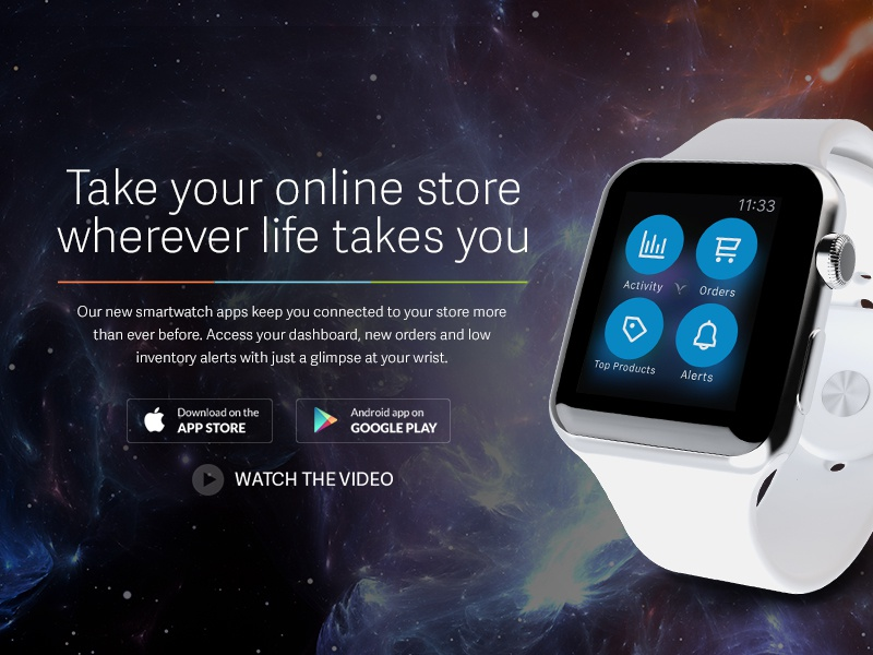Volusion Apple Watch Landing Page by Molly Francis for