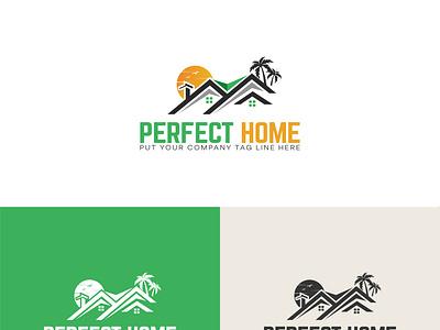 Perfect Home Logo Design creative design creative logo company branding logo design branding illustration company logo branding design minimalist logo free logo free logo design logo maker online logo maker logo design