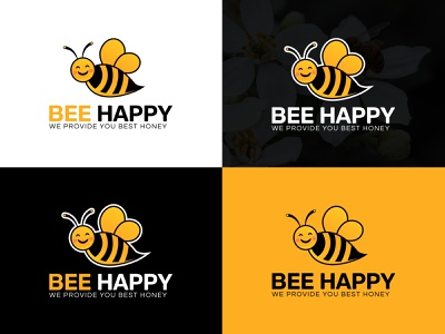 Bee Logo Design branding bee logo logo mark illustration sweet logo business logo logotype logo maker logo maker online logo design company logo free logo design company branding logo design branding branding design bee illustration honey logo design honey logo honey bee bee happy logo