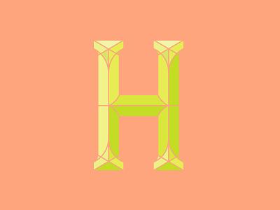 H typogrpahy neon handlettering customtype type letterh h