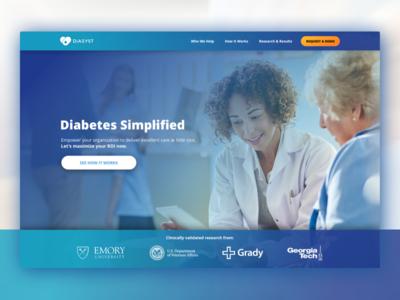 Diasyst Marketing Website (old) grady va emory marketing website health health it medical t1d t2d healthcare diabetes