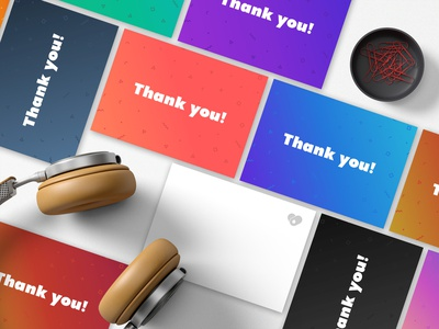 Thank You Card clean thank you card mockup gradiant graphic design notecard postcard cards you thank