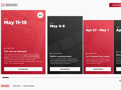 Bulletin Board beverage coke content design content affairs regulatory science web app website memo board bulletin coca-cola