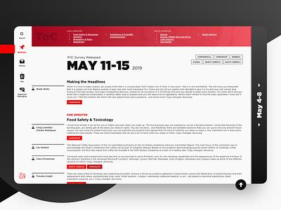 Bulletin Board / Article copy red website web app science regulatory memo content design content coke coca-cola article bulletin board beverage affairs