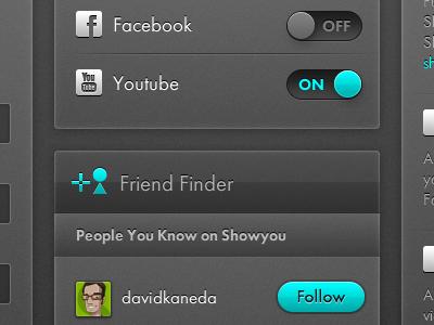 Showyou web settings