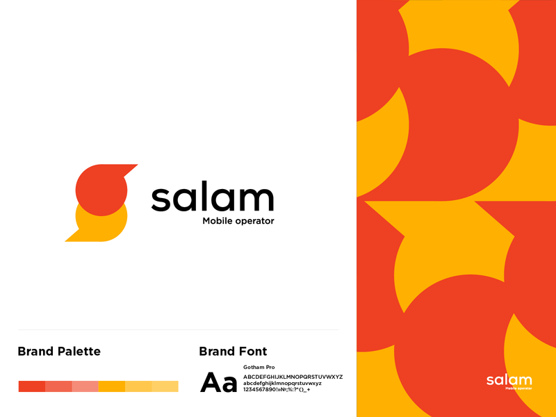 logo salam operator mobile vector logotype logo a day logo typography logodesign identity graphic design branding