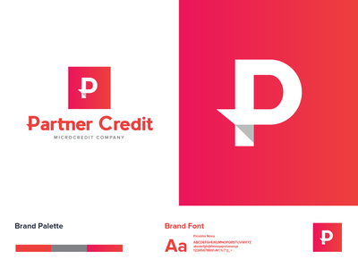 Partner Credit company credit money business finance business finance vector logo logo a day logotype typography logodesign identity graphic design branding