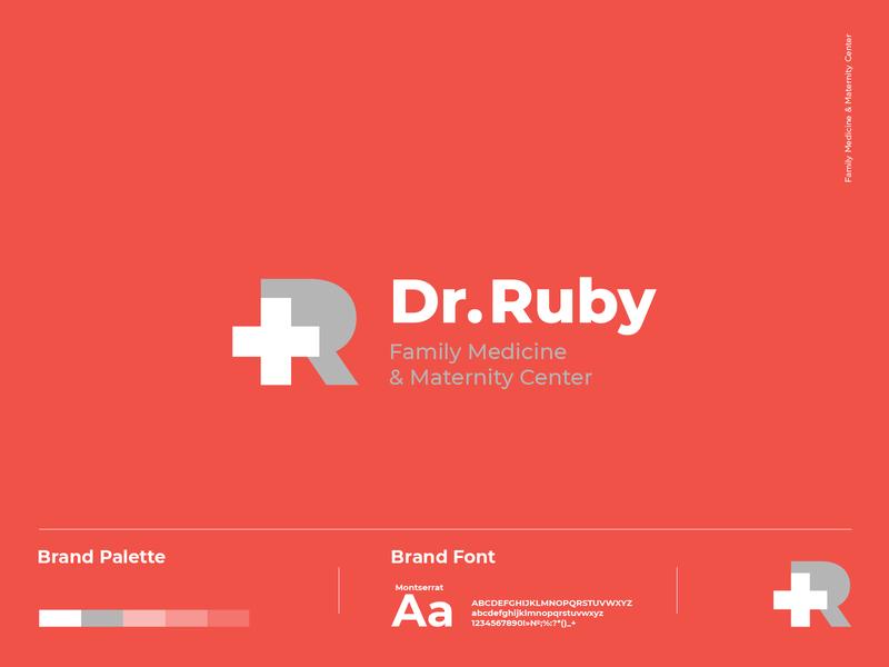 dr ruby logo dribbble family medicine medicine medical doctor branding logo a day logotype logo typography logodesign identity graphic design
