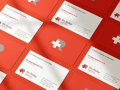 dr ruby cards medicine doctor medical logo a day print logotype typography logo logodesign identity graphic design branding