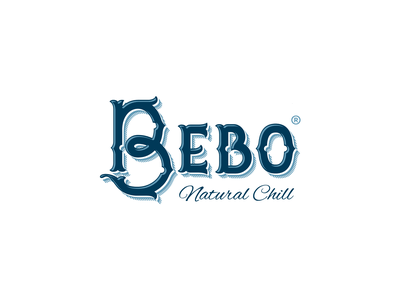 Bebo Natural Chill logotype bottle natural mexican water vector illustration identity typography logodesign graphic design branding logo