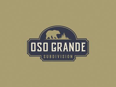 Oso Grande nature bear logotype subdivision grande graphic design vector illustration typography logo logodesign identity graphic design branding