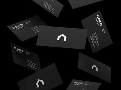 Elevate Homes stationary house homes home cards card vector typography logo logodesign identity graphic design branding